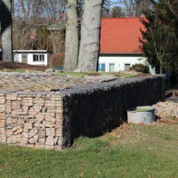 bau der gabionen terrasse21 - Der Bau unserer Gabionen Terrasse zum Abfang des Hangs
