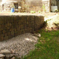 bau der gabionen terrasse22 - Der Bau unserer Gabionen Terrasse zum Abfang des Hangs