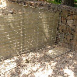 bau der gabionen terrasse25 - Der Bau unserer Gabionen Terrasse zum Abfang des Hangs