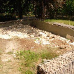 bau der gabionen terrasse27 - Der Bau unserer Gabionen Terrasse zum Abfang des Hangs