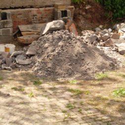 bau der gabionen terrasse3 - Der Bau unserer Gabionen Terrasse zum Abfang des Hangs