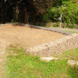 bau der gabionen terrasse7 - Der Bau unserer Gabionen Terrasse zum Abfang des Hangs