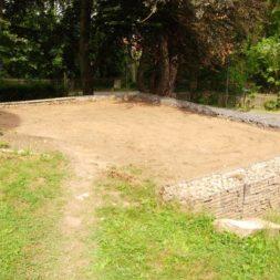 bau der gabionen terrasse8 - Der Bau unserer Gabionen Terrasse zum Abfang des Hangs
