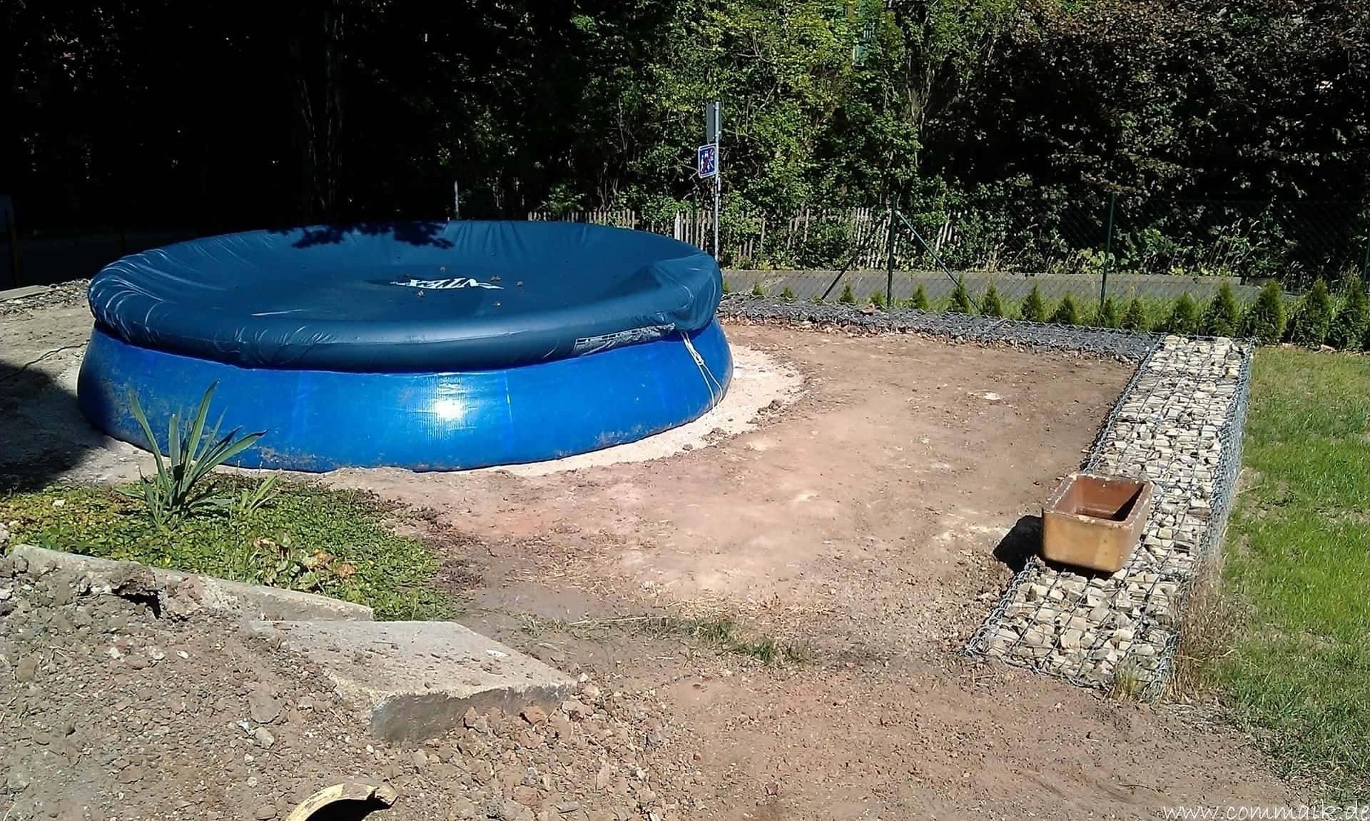 projekt pool terrasse der beginn commaik. Black Bedroom Furniture Sets. Home Design Ideas