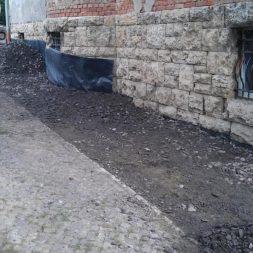 trockenlegung des keller verfuellen des graben 10 - Trockenlegung des Hauses - Einbringen von Drainage und Wasserrohren