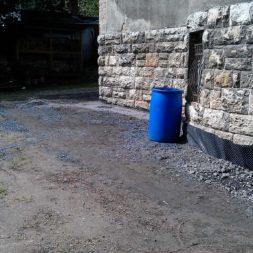 trockenlegung des keller verfuellen des graben 15 - Trockenlegung des Hauses - Einbringen von Drainage und Wasserrohren