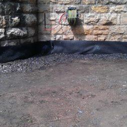 trockenlegung des keller verfuellen des graben 16 - Trockenlegung des Hauses - Einbringen von Drainage und Wasserrohren