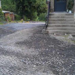 trockenlegung des keller verfuellen des graben 2 - Trockenlegung des Hauses - Einbringen von Drainage und Wasserrohren