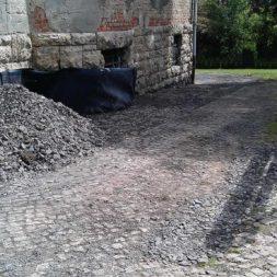 trockenlegung des keller verfuellen des graben 20 - Trockenlegung des Hauses - Einbringen von Drainage und Wasserrohren