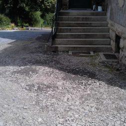 trockenlegung des keller verfuellen des graben 21 - Trockenlegung des Hauses - Einbringen von Drainage und Wasserrohren