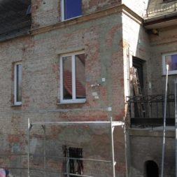 neuverputzen der nord fassade 10 - Die Nord-Fassade wird neu verputzt