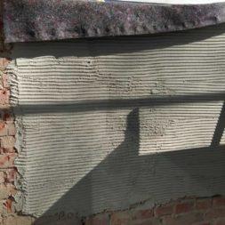 neuverputzen der nord fassade 181 - Die Nord-Fassade wird neu verputzt