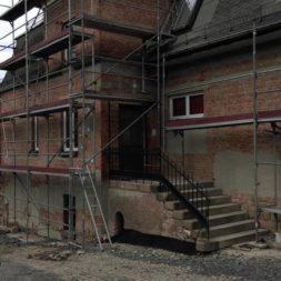 neuverputzen der nord fassade 24 - Die Nord-Fassade wird neu verputzt