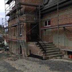 neuverputzen der nord fassade 25 - Die Nord-Fassade wird neu verputzt
