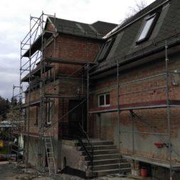neuverputzen der nord fassade 26 - Die Nord-Fassade wird neu verputzt