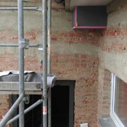 neuverputzen der nord fassade 32 - Die Nord-Fassade wird neu verputzt