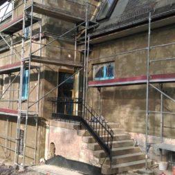 neuverputzen der nord fassade 361 - Die Nord-Fassade wird neu verputzt