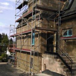 neuverputzen der nord fassade 38 - Die Nord-Fassade wird neu verputzt