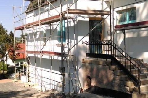 neuverputzen der nord fassade 41 - Die Nord-Fassade wird neu verputzt