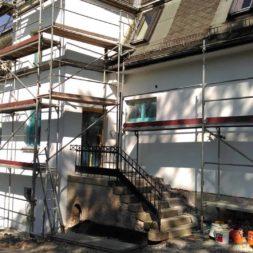 neuverputzen der nord fassade 42 - Die Nord-Fassade wird neu verputzt