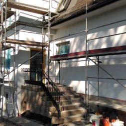 neuverputzen der nord fassade 43 - Die Nord-Fassade wird neu verputzt