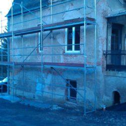 neuverputzen der nord fassade 51 - Die Nord-Fassade wird neu verputzt