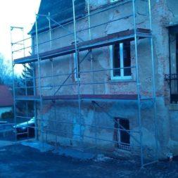 neuverputzen der nord fassade 52 - Die Nord-Fassade wird neu verputzt