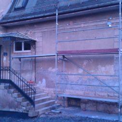 neuverputzen der nord fassade 53 - Die Nord-Fassade wird neu verputzt
