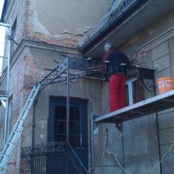 neuverputzen der nord fassade 55 - Die Nord-Fassade wird neu verputzt