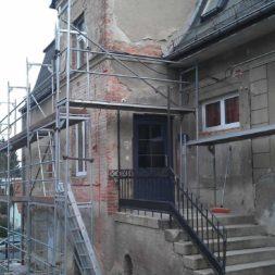 neuverputzen der nord fassade 58 - Die Nord-Fassade wird neu verputzt