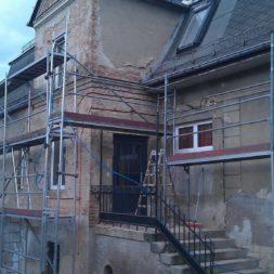 neuverputzen der nord fassade 60 - Die Nord-Fassade wird neu verputzt