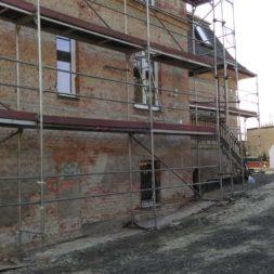neuverputzen der nord fassade 7 - Die Nord-Fassade wird neu verputzt