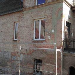 neuverputzen der nord fassade 9 - Die Nord-Fassade wird neu verputzt