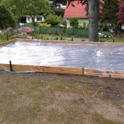 bau eines blockbohlenhaus im garten 17 - Der Bau einer Blockbolengarage im Garten
