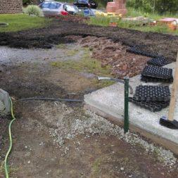 bau eines blockbohlenhaus im garten 25 - Der Bau einer Blockbolengarage im Garten