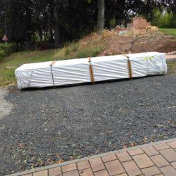 bau eines blockbohlenhaus im garten 28 - Der Bau einer Blockbolengarage im Garten