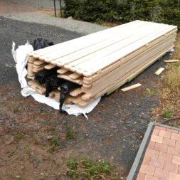 bau eines blockbohlenhaus im garten 29 - Der Bau einer Blockbolengarage im Garten