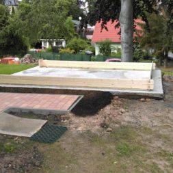 bau eines blockbohlenhaus im garten 43 - Der Bau einer Blockbolengarage im Garten