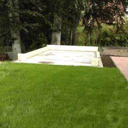 bau eines blockbohlenhaus im garten 45 - Der Bau einer Blockbolengarage im Garten