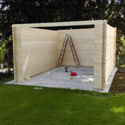 bau eines blockbohlenhaus im garten 48 - Der Bau einer Blockbolengarage im Garten