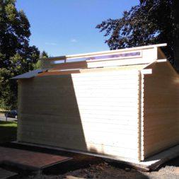 bau eines blockbohlenhaus im garten 51 - Der Bau einer Blockbolengarage im Garten