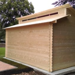 bau eines blockbohlenhaus im garten 54 - Der Bau einer Blockbolengarage im Garten