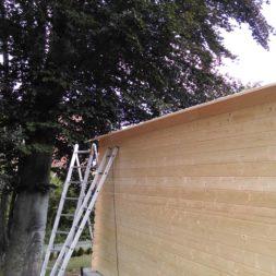 bau eines blockbohlenhaus im garten 55 - Der Bau einer Blockbolengarage im Garten