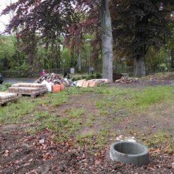 bau eines blockbohlenhaus im garten 6 - Der Bau einer Blockbolengarage im Garten