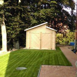 bau eines blockbohlenhaus im garten 61 - Der Bau einer Blockbolengarage im Garten
