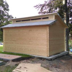 bau eines blockbohlenhaus im garten 63 - Der Bau einer Blockbolengarage im Garten
