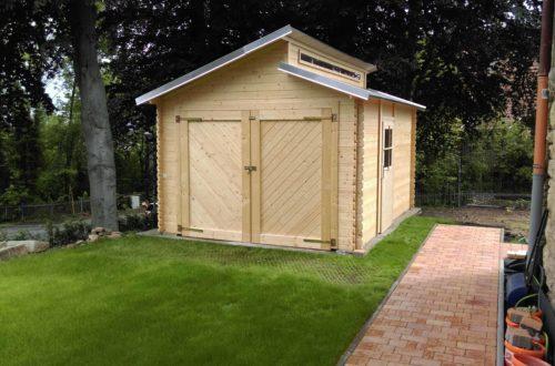 bau eines blockbohlenhaus im garten 64 - Der Bau einer Blockbolengarage im Garten