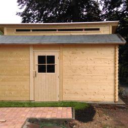 bau eines blockbohlenhaus im garten 65 - Der Bau einer Blockbolengarage im Garten