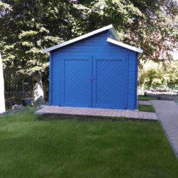 bau eines blockbohlenhaus im garten 67 - Der Bau einer Blockbolengarage im Garten