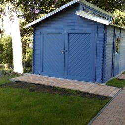 bau eines blockbohlenhaus im garten 68 - Der Bau einer Blockbolengarage im Garten